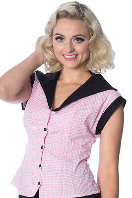 Dancing Days Banned Model Face Retro Vintage Style 1950s Shirt Blouse Top XS-4XL