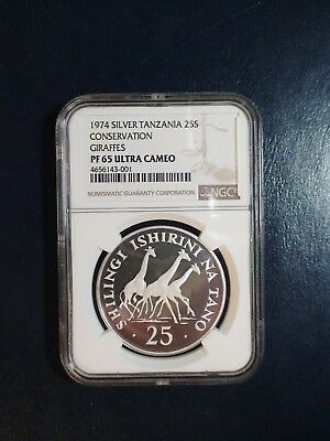 1974 Tanzania 25 Shilingi NGC PF65 UCAM GEM 25S Coin PRICED TO SELL QUICKLY!