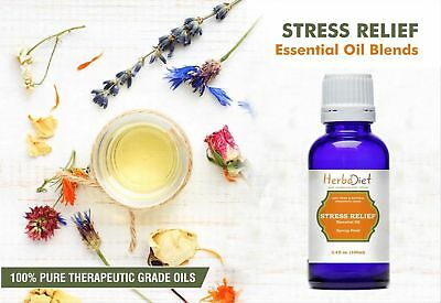 Stress Relief Essential Oil Blend 100% Pure Therapeutic Grade Aromatherapy Oils