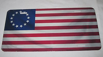 Betsy Ross Usa 13 Star Flag License Plate 6 X 12 Inches New Aluminum Made In Usa