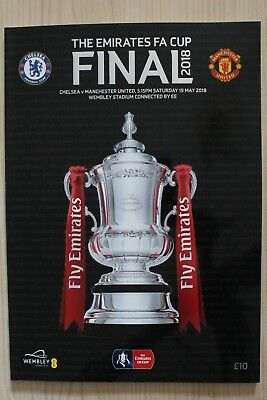 2018 Fa Cup Final Programme *manchester United V Chelsea* (19/05/2018)