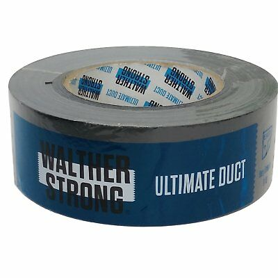 Walther Strong Ultimate Black Duct Tape 50mm x 50m Easy Tear Very Strong