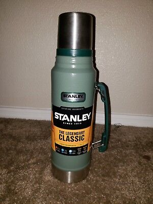 Stanley Thermos Vacuum Bottle Classic Stainless Steel 1.1 Quart
