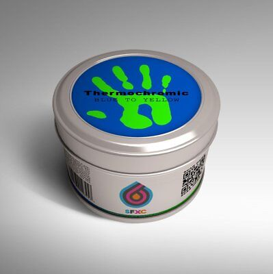 Thermochromic Acrylic Screen printing ink/Paint - Blue to Neon Green