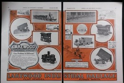 Vintage Ad 1918 LAKEWOOD INDUSTRIAL HAULAGE & TWO OTHER VINTAGE ADS  #34