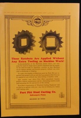 Vintage Ad 1920's FORT PITT STEEL CASTING & UNITED ALLOY STEEL CORPORATION  #26