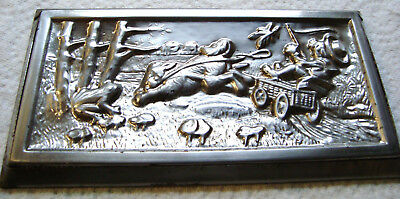antique chocolate mold  Anton Reiche 60013 bunny pulls cart with coachman