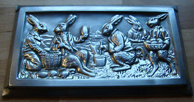 antique chocolate mold Anton Reiche 6695 easter rabbits
