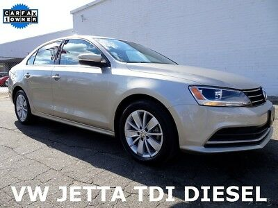 2015 Volkswagen Jetta TDI SE Sedan 4-Door Cheap Used VW Diesel Car For Sale 2015 Volkswagen Jetta Diesel TDI SE Sedan 4-Door Used VW Car For Sale Low Miles!