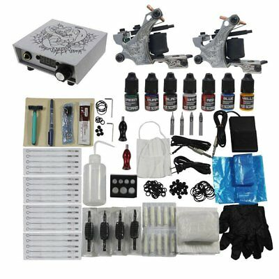 Complete Tattoo Kit Professional Digital Power Supply 7 Color Tattoo Starter