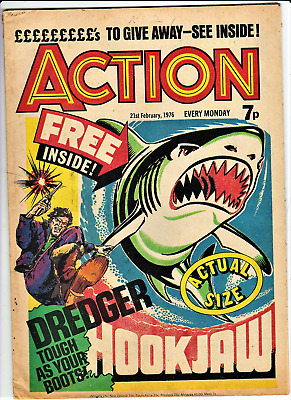 ACTION # 2 21st February 1976 comic pre-ban issue 7 penny nightmare IPC