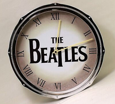 The Beatles - Black Pearl Drum Wall Clock by The Bradford Exchange 01-22954-001