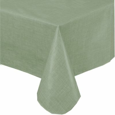 Premium Solid Color Vinyl Flannel Backed Tablecloth 52 X 90 Inch Oblong   .
