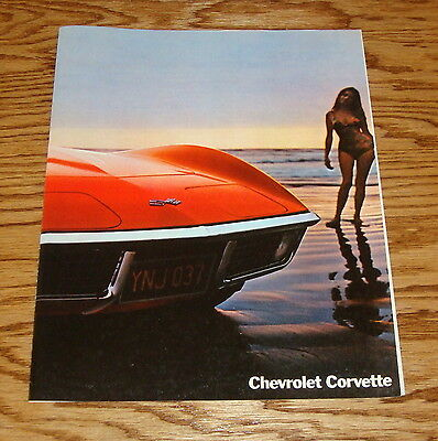 Original 1970 Chevrolet Corvette Facts Features Sales Sheet Brochure 70 Chevy