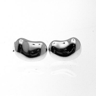Tiffany & Co. Vintage Authentic Elsa Peretti Sterling Silver Clip Bean Earrings