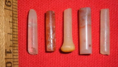 (5) Damaged Sahara Neolithic Plugs/Labrets, Prehistoric African Artifacts