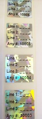 100 to 1000 Custom Print CI Hologram Product Protection Label Sticker Seals
