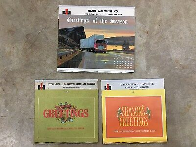 International Harvester Dealer Promo Calendars 1968 1971 1972 Saint Charles IL