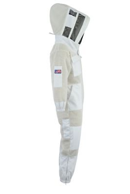 Beepro 3 Layer beekeeping full suit ventilated jacket Astronaut veil-L-01