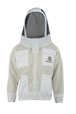 Beepro 3 Layer beekeeping jacket hat ventilated protective fency veil hood@2XL01