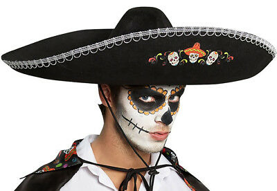 Adult Day Of The Dead Deluxe Sombrero fnt