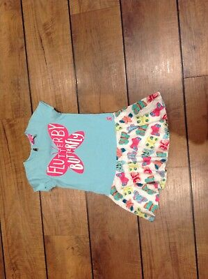 Joules Jersey Dress With Butterfly Design Age 2-3