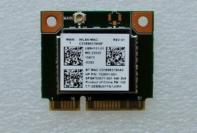 Realtek Rtl8723Be  Wifi Bluetooth 4.0 Laptop Module Card 752601-001 753077-001