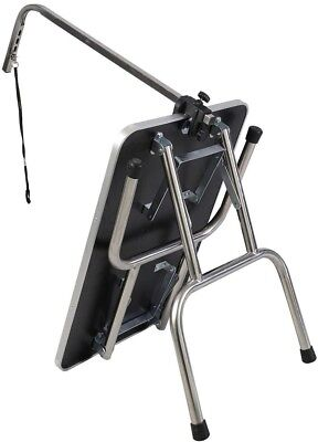 Portable Foldable Pet Dog Grooming Table Adjustable W/ Arm Noose 31quot; Non Sli