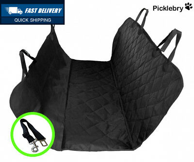 Picklebry Luxury Quilted Padded Dog Car Seat Cover And Belt Clip Waterproof