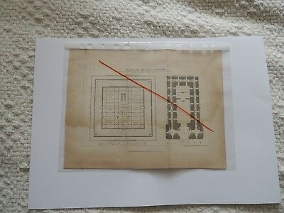 Genunine 1834 -Map Of The Temple Of Jerusalem- A4 Size - Scotts Bible