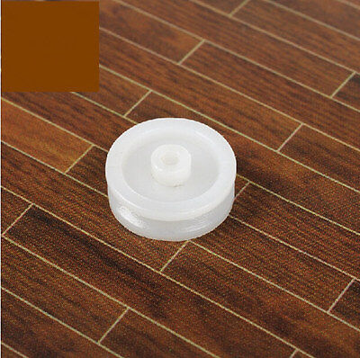 20pcs Plastic Sheave V-belt Pulley 13mm White Timing Pulley 2mm R Hole For DIY