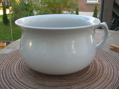 Antique chamber bowl trade Mark Adams England white