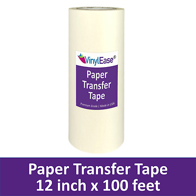 PAPER Application Transfer Tape 12 in x 100 ft Roll Sign Craft Vinyl MADE IN USA
