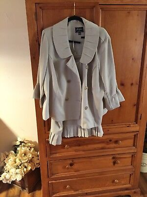 Sweet Suit size 22 plus size women's. Tan/nude/beige