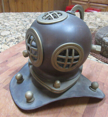 "Vintage Copper & Brass 8"" Divers Helmet Mask Military ( US Navy Diving )"