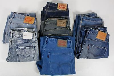Premium Denim Lot of 7 Pair Mens Jeans Levi's Blue Relaxed Fit And Regular Jeans