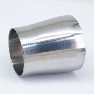76mm Turn to 63mm SS304 Sanitary Weld Concentic Reducer Pipe Fitting Homebrew