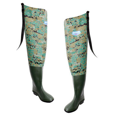 5fe010955958e Lightweight PVC Stocking Foot Hip Waders Hunting Fishing Wading Pants Boots