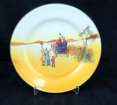 """Royal Doulton #d2716 Series Ware Coaching Days 7 1/2"""" Side Plate 1905-1955"""