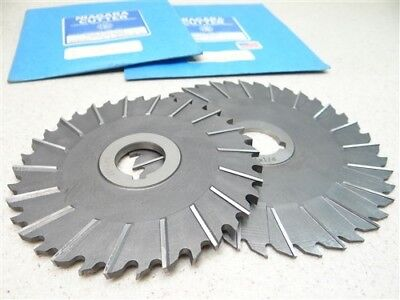 """New Pair Of Niagara Hss Staggered Tooth Slitting Saws 1/8"""" & 7/32"""" Wths 1"""" Bores"""