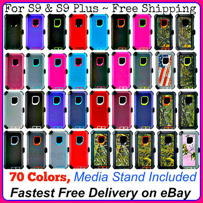For Samsung Galaxy S9 & S9 Plus Case Series ( Belt Clip Fits Otterbox Defender )