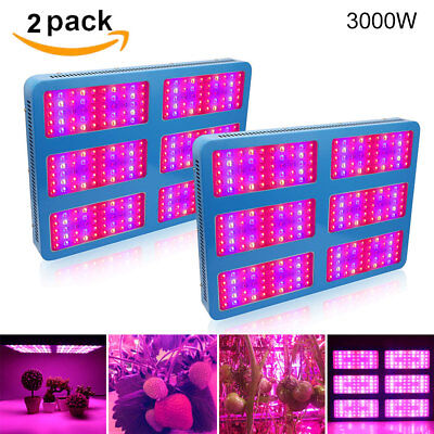1000W 2000W 3000W LED Grow Light Full Spectrum Lamp Panel Hydro for Indoor Plant