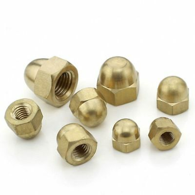 M3~M20 High Quality Solid Brass Hex Dome Nuts Acorn Cap Nuts For Bolts & Screws