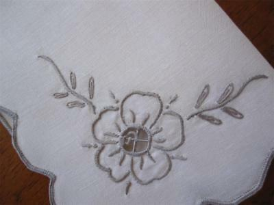 Set of FOUR Vintage Hand Embroidered TABLE NAPKINS