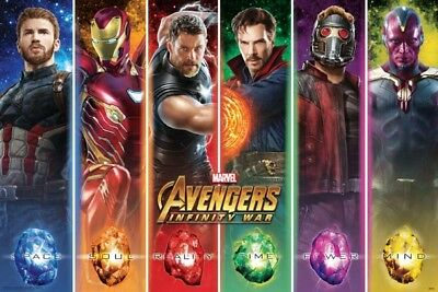 (LAMINATED) Avengers Infinity War Movie Poster Large 61x91cm Marvel Film Wall 2