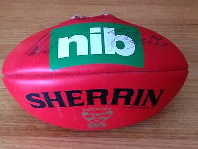 Geelong - Joel Selwood And Coach Scott, Signed, Full Size Football