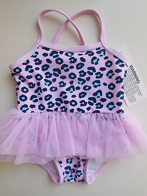 Cute Baby Girl Tutu Bathers Swimwear Clothes Size 000 Fits 0-3M *brand New