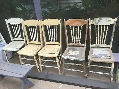 Spindle Back Kitchen Chairs, set of 6