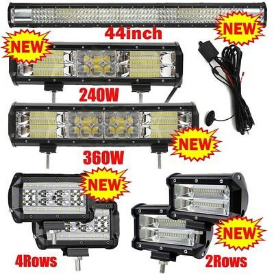 Car Truck 12V 24V LED Work Light Spot Flood Combo Driving Lamps Bright Bulb UK