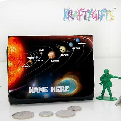 Personalised Solar System Planets Boys Childrens Lunch Wallet Money Gift SH240